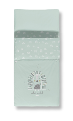 Saco Nórdico + Bajera Estampada + Funda Almohada Happy Casual Organic