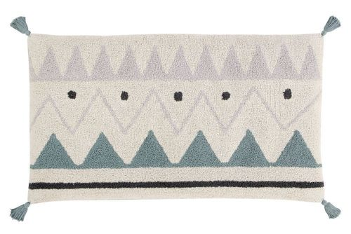 Sleepover Puff Azteca Natural - Vintage Blue Lorena Canals