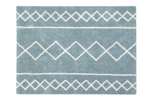 Alfombra Lavable Oasis Natural - Vintage Blue Lorena Canals