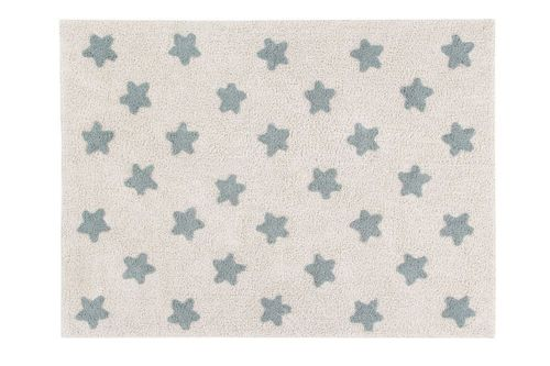 Alfombra Lavable Stars Natural-Vintage Blue Lorena Canals