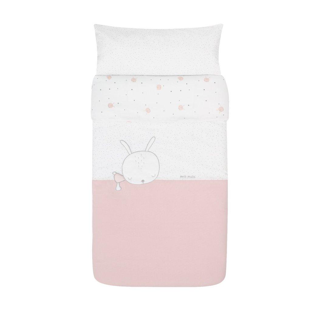 Relleno Incluido Protector Cuna 60 Petitpraia Sleepy Rosa Colcha Mantas